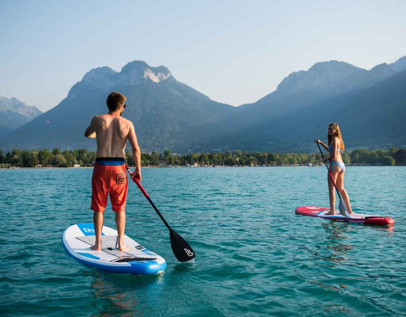 Stand up paddle Annecy and Learning French